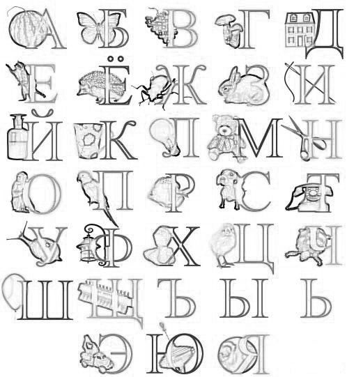 Coloring Russian Alphabet Cyril Code Russian Alphabet Learn