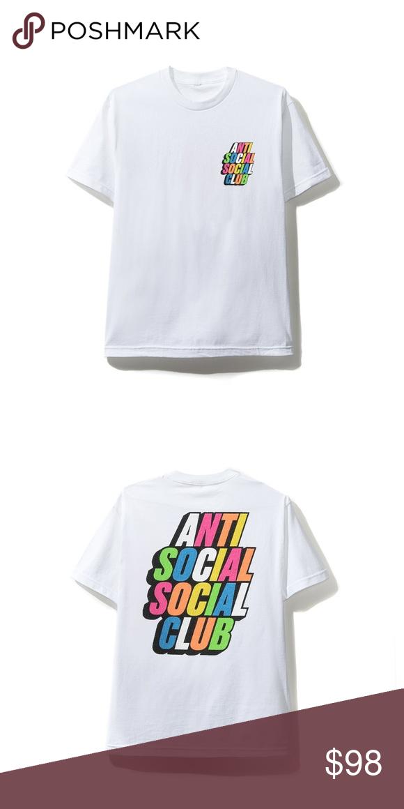 Anti Social Social Club Rainbow on Black ASSC T-shirt