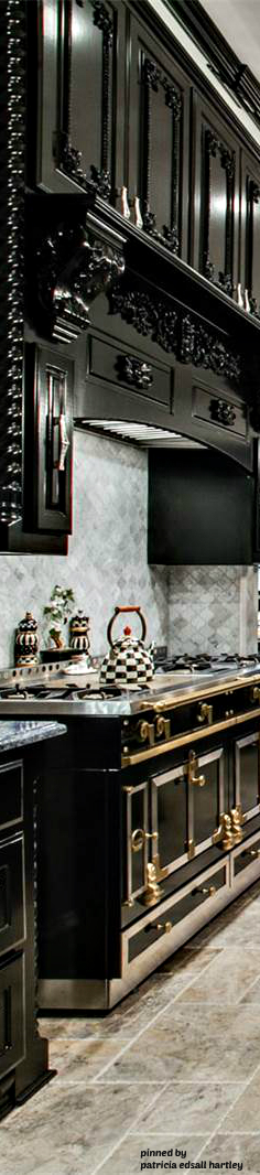Dramatic kitchen in black and white | KITCHEN ~ Of The Home ... on artsy kitchen ideas, fabulous kitchen ideas, bold kitchen ideas, glamorous kitchen ideas, airy kitchen ideas, marble kitchen ideas, romantic kitchen ideas, futuristic kitchen ideas, dark kitchen ideas, elegant kitchen ideas, funky kitchen ideas, spacious kitchen ideas, colorful kitchen ideas, luxurious kitchen ideas, inspiring kitchen ideas,
