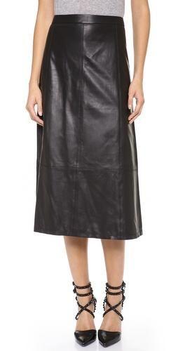 9d5fc04820 Alice + Olivia leather midi skirt Leather Midi Skirt, Leather Cleaning, Fall  Lookbook,