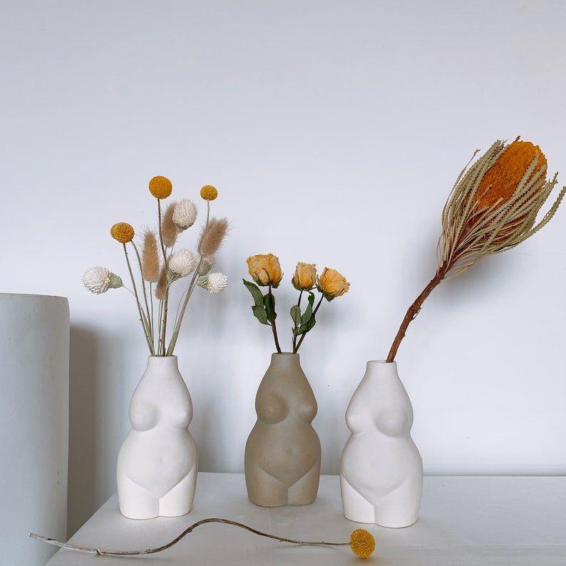 Lady Body Art Vase Nordic Vasebutt Modern Home Decorwhite Etsy In 2020 Flower Vase Gift Vase Handmade Ceramics Vase