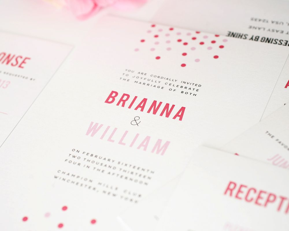 Confetti Wedding Invitations | Heart wedding invitations, Weddings ...
