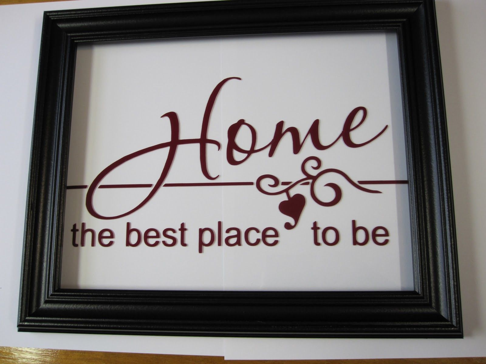 Vinyl floating frame cricut ideas pinterest floating frame floating frame with vinyl i want home to be the best place to be for piper jeuxipadfo Image collections