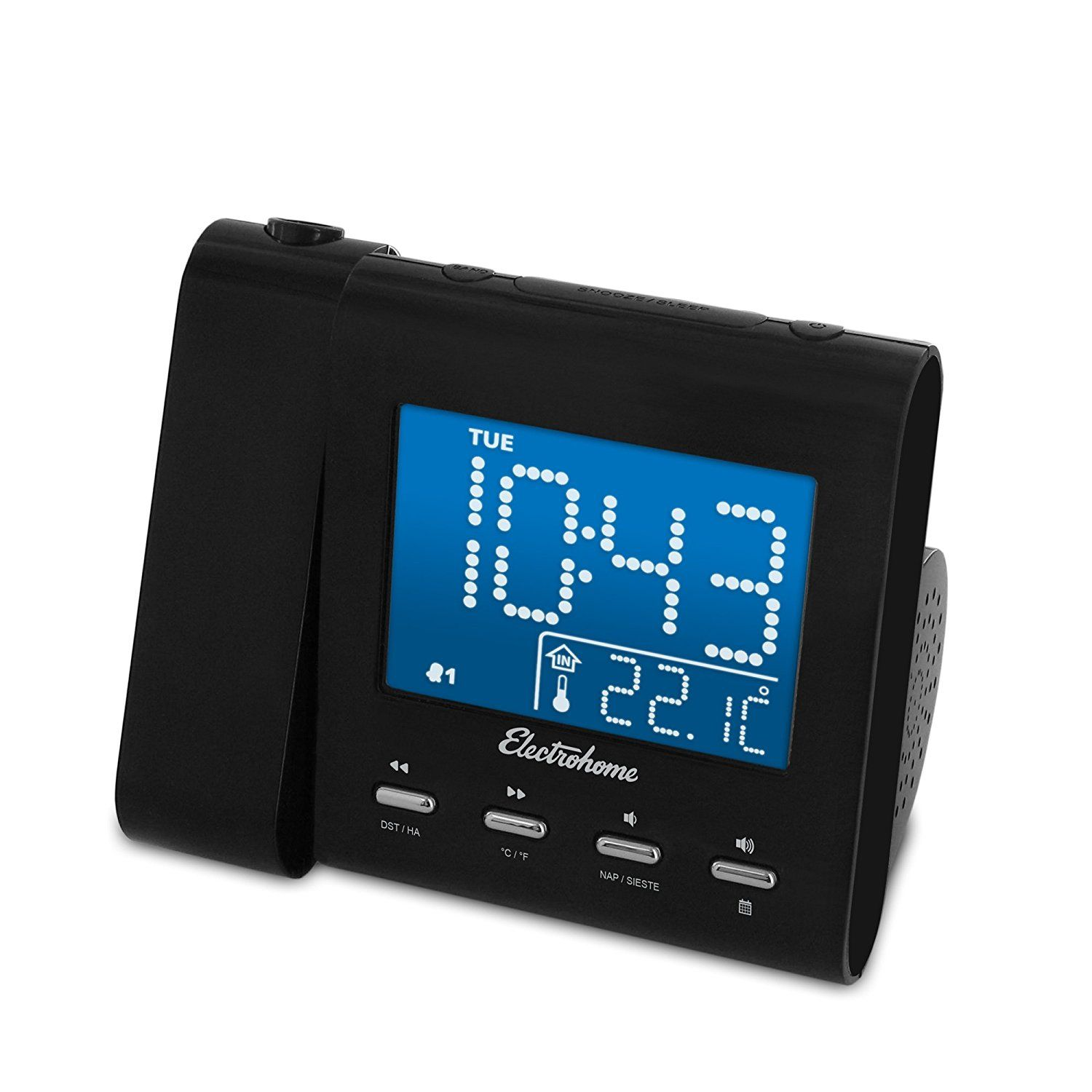 Electrohome EAAC601 Projection Alarm Clock with AMFM