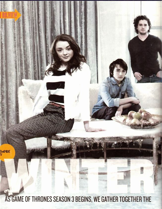 Maisie Williams, Isaac Hempstead Wright, Kit Harington ...