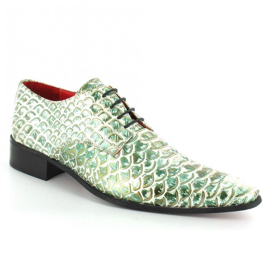 16001 Mens Premium Leather Snake-skin