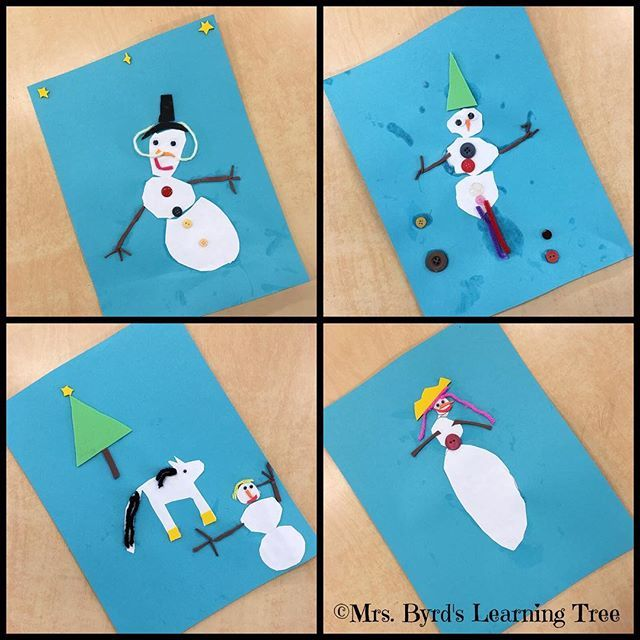 Sweet #kindergarten snow people to make you smile. Have a hopeful and happy Friday.  #artmatters #snowpeople
