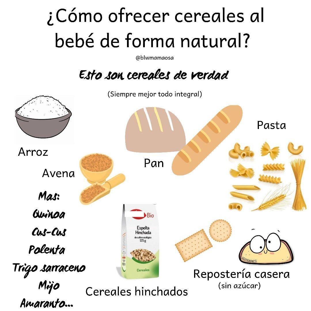 Como Ofrecer Cereales Al Bebe Comida Bebe 6 Meses Recetas De Comida Para Bebés Baby Led Weaning First Foods