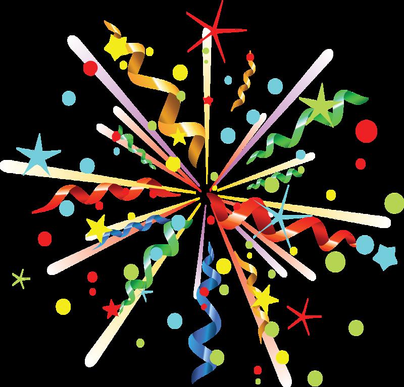 Картинки рисунки праздник хлопушки фейерверк