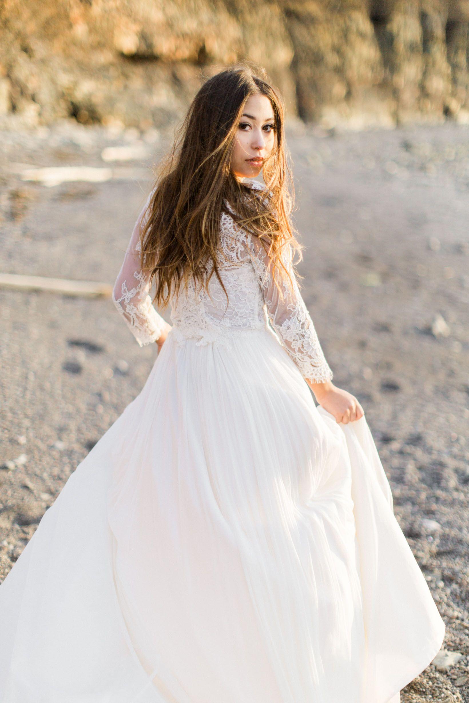BEAUTY & THE BAY OF FUNDY Wedding dress inspiration