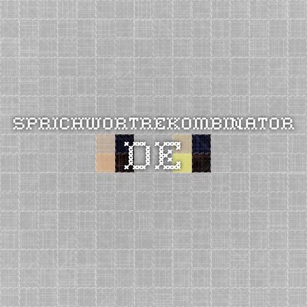 Sprichwortrekombinator