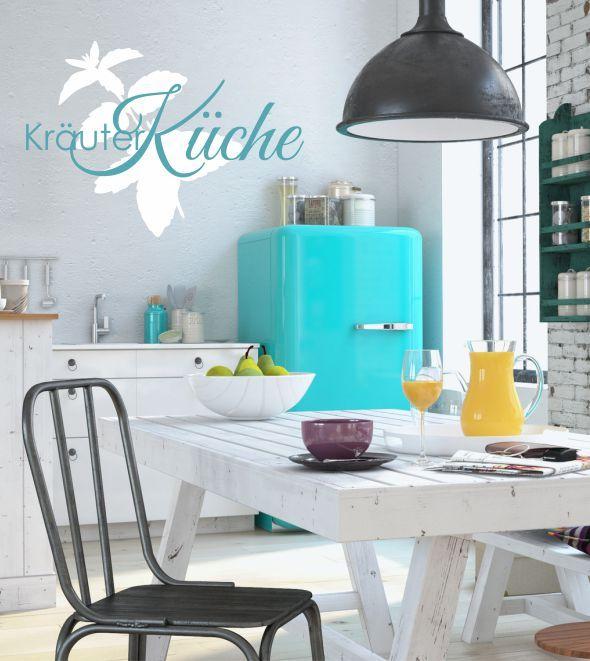 Kräuter Küche, Kochen, Essen, Wandtattoo, zweifarbig ...