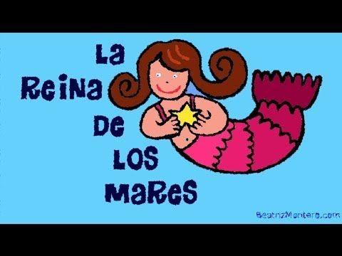 Soy La Reina De Los Mares Canciones Infantiles Rimas Y Retahílas Con Subtítulos Canciones Infantiles Canciones Cuento Infantiles