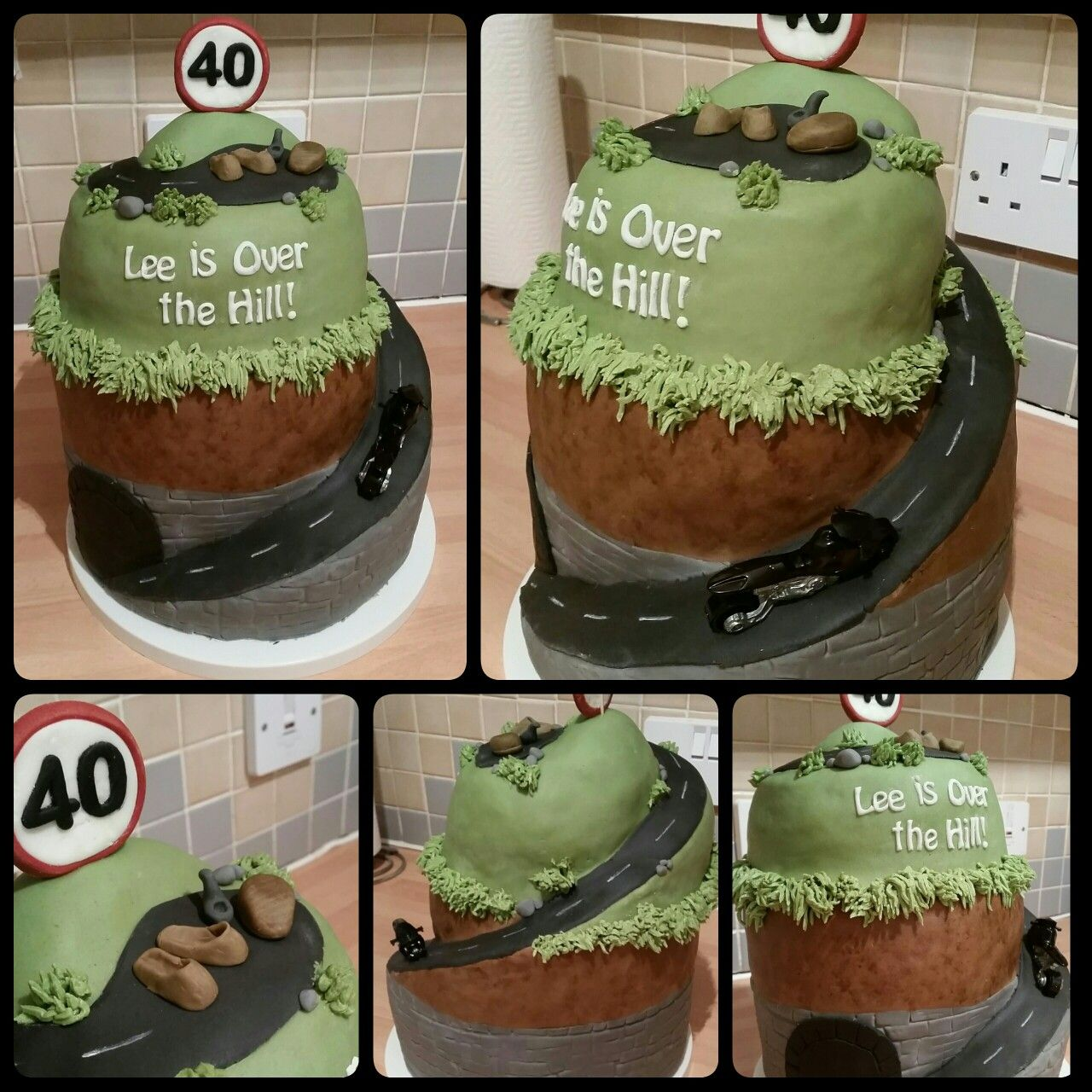 Motorbike Inspired Over The Hill 40th Birthday Cake For My Mad Husband