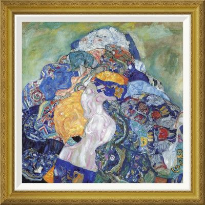 "Global Gallery 'Baby 1917' by Gustav Klimt Framed Painting Print Size: 28"" H x 28"" W x 1.5"" D"