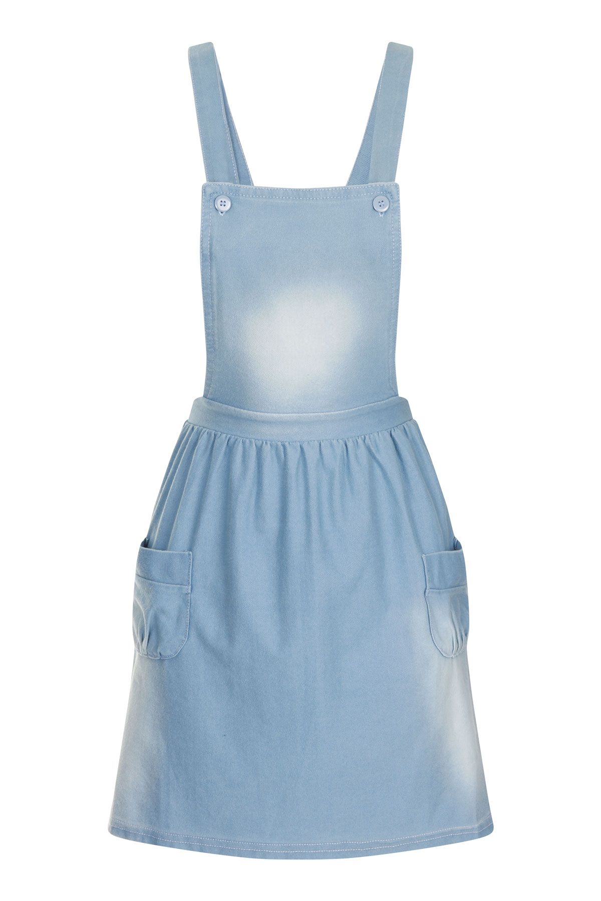 8ce851f519 Cute girls denim-blue skater style dungaree dress - Age 8