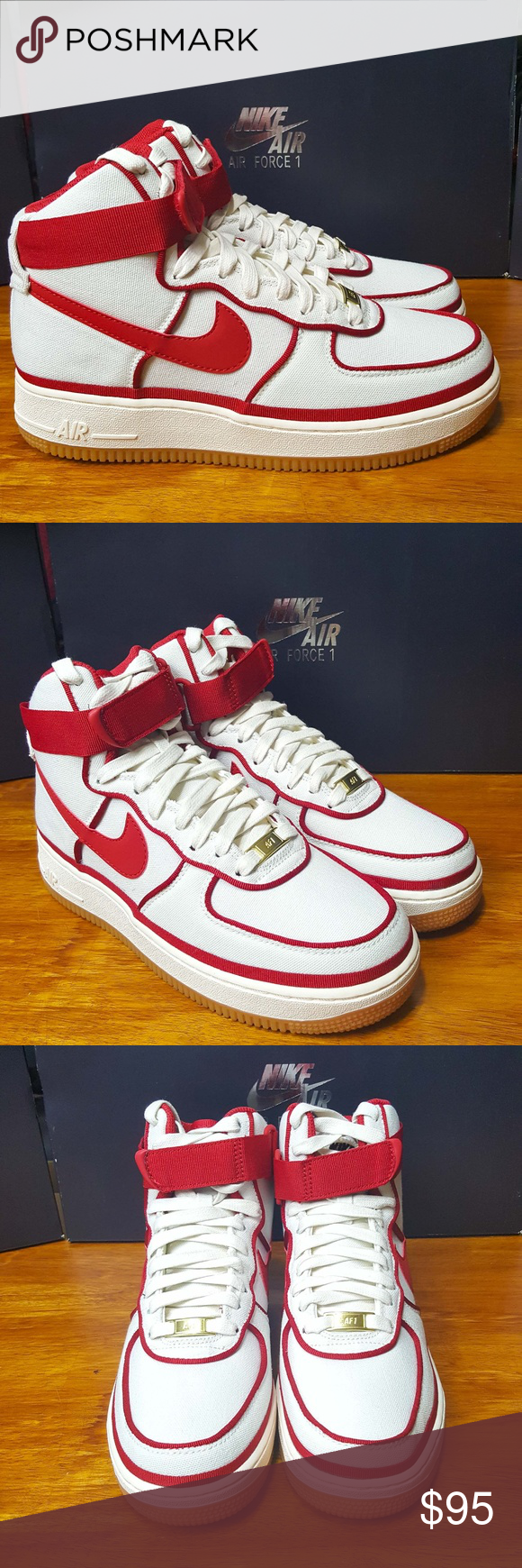 Details about *New* Nike Air Force 1 High '07 LV8 Men's Size SailGym Red Black 806403 101