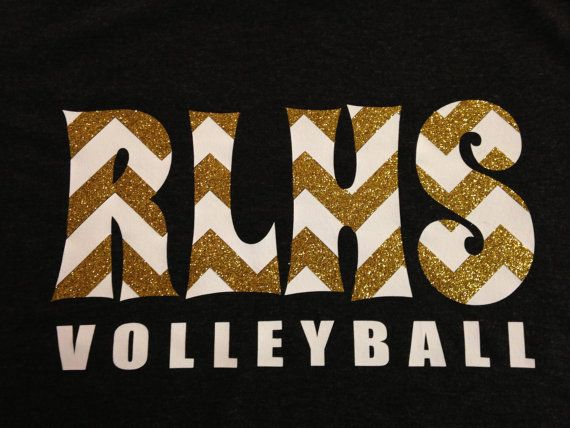 Custom Chevron Volleyball Tee - Personalized Team Shirt - Multiple Colors on Etsy, $20.00