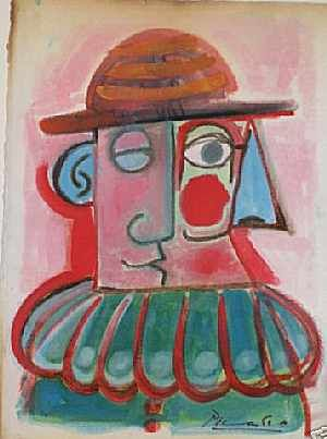picasso clown painting bing images circus clown art pinterest. Black Bedroom Furniture Sets. Home Design Ideas