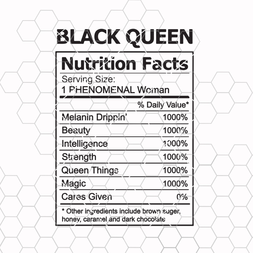 Black Queen Svg Black Woman Svg Black Girl Nutrition Facts Digital Doran Star In 2020 Cute Poster Svg Nutrition Facts