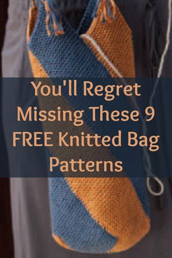Free Knitting Patterns You Have to Knit | Everyday bag, Purse and Beach