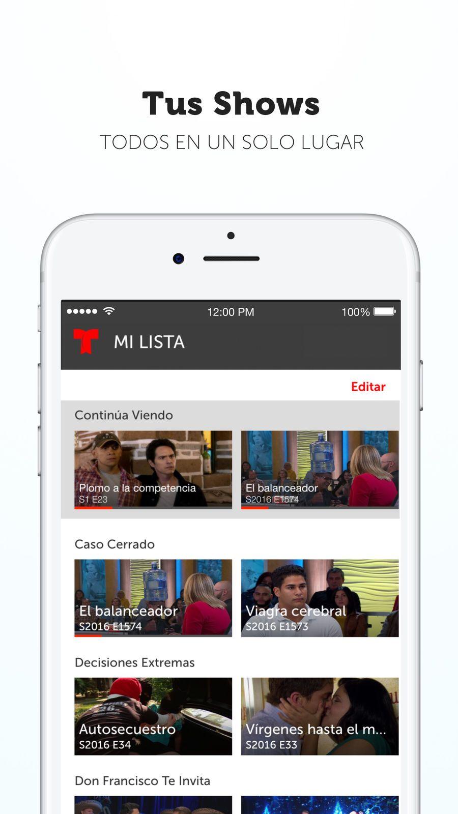 Telemundo Now ampPhotoiosVideo Iphone, App, Ipod touch