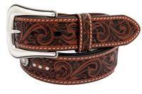 Roper Mens Hand Tooled Design Ranger Belt