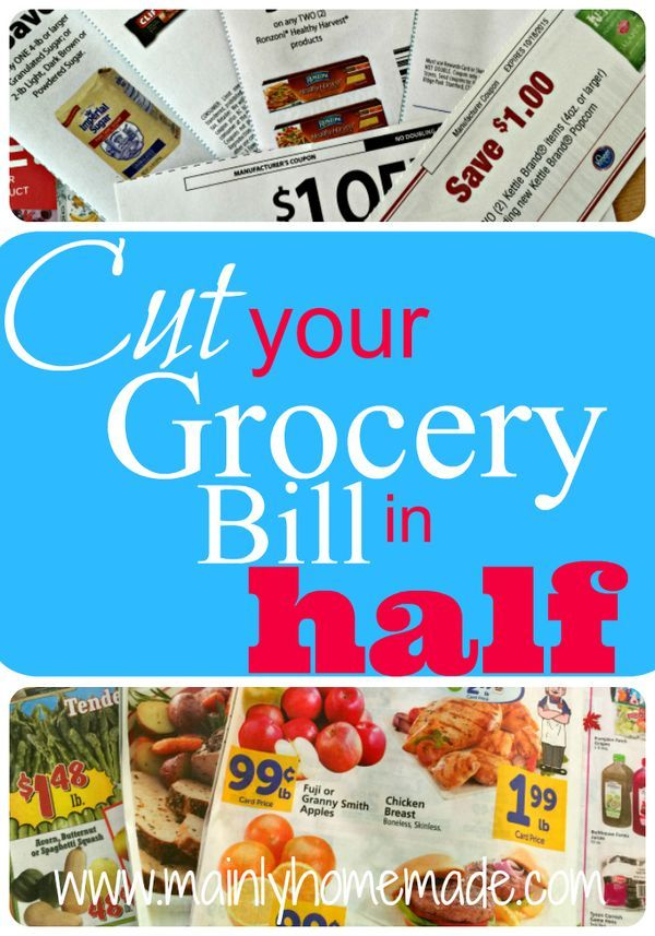 HOW TO CUT GROCERY BILL BY 90 PERCENT