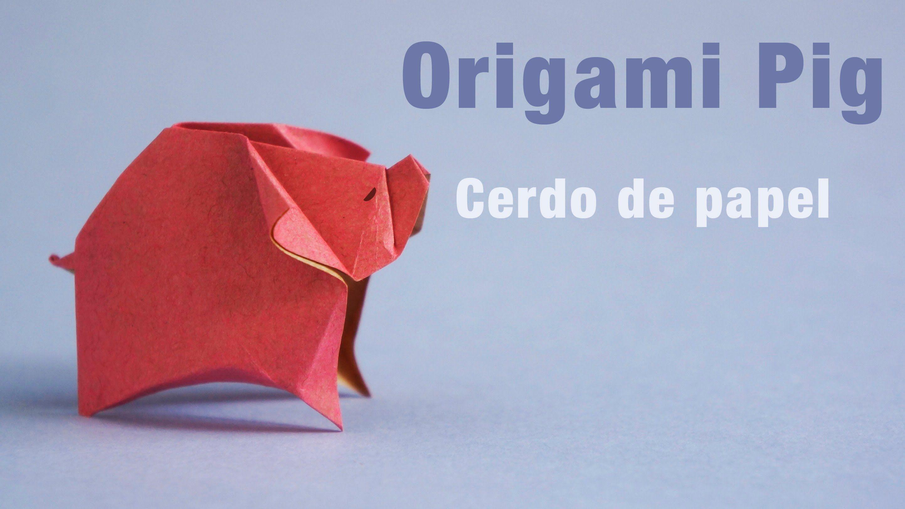 Origami Pig Cerdo En Tutorials 3 Video Diagram Quotswan Quyetquot
