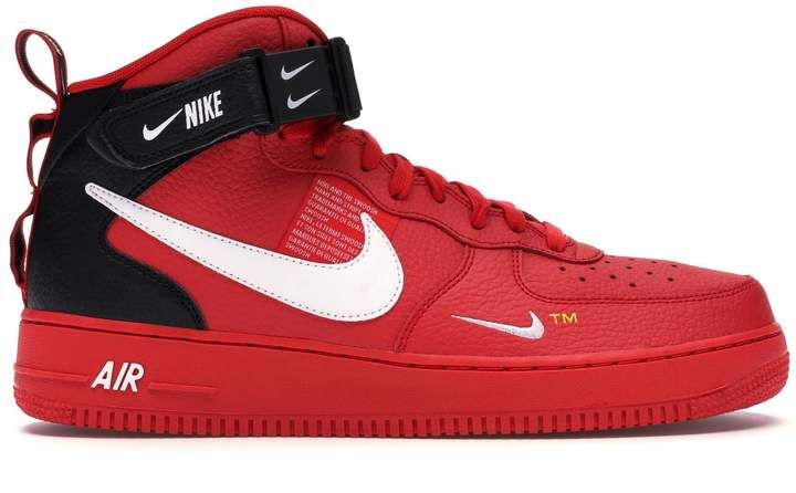 Nike Force 1 Mid Utility University Red | Nike force 1, Air