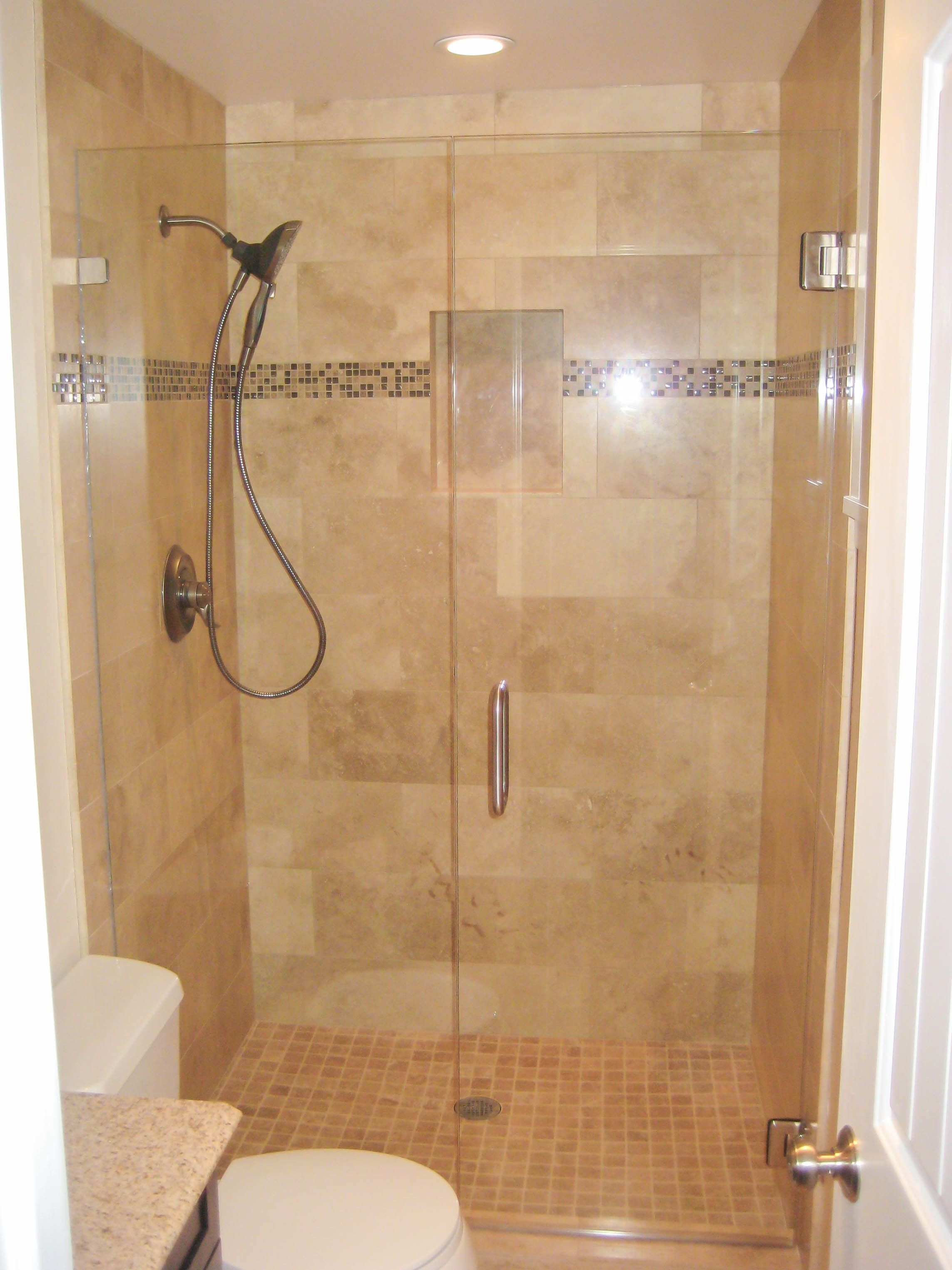 Bathroom Ideas With Corner Shower Only Small Home Design Pinterest