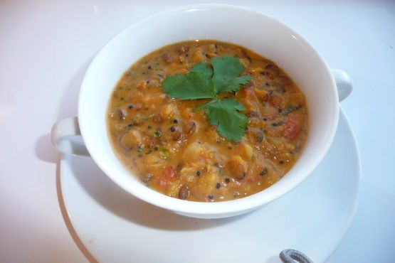 Mulligatawny Soup with Lentils #mulligatawnysoup