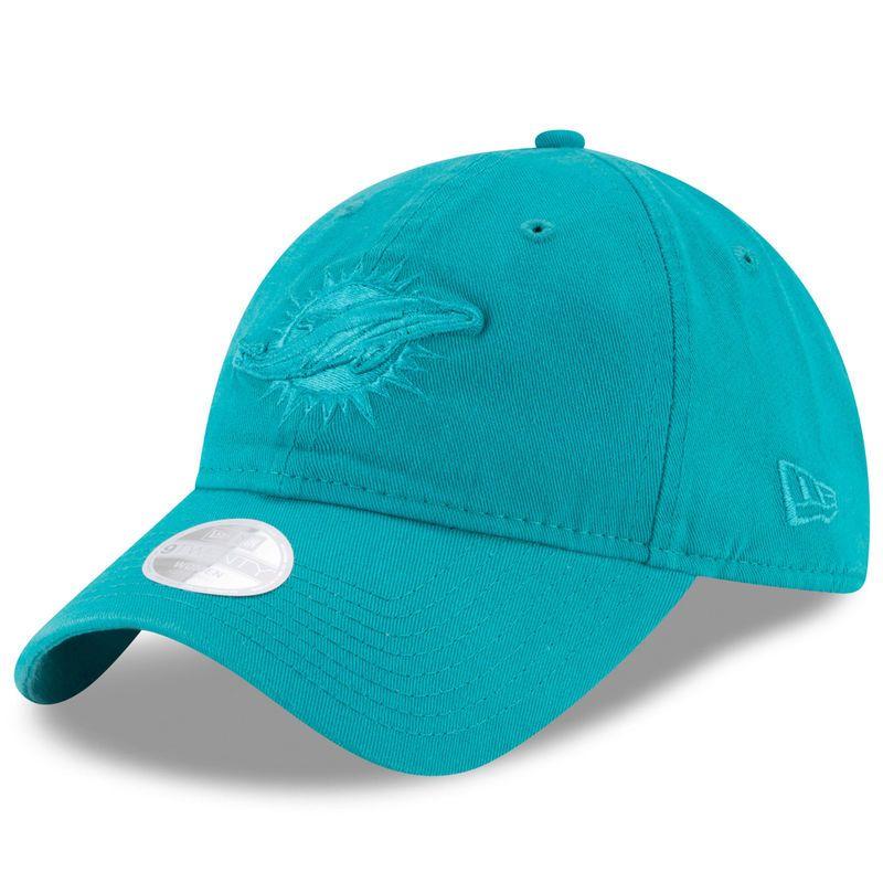 new concept 58d33 c04ab Miami Dolphins New Era Women s Preferred Pick Tonal 9TWENTY Adjustable Hat  - Aqua