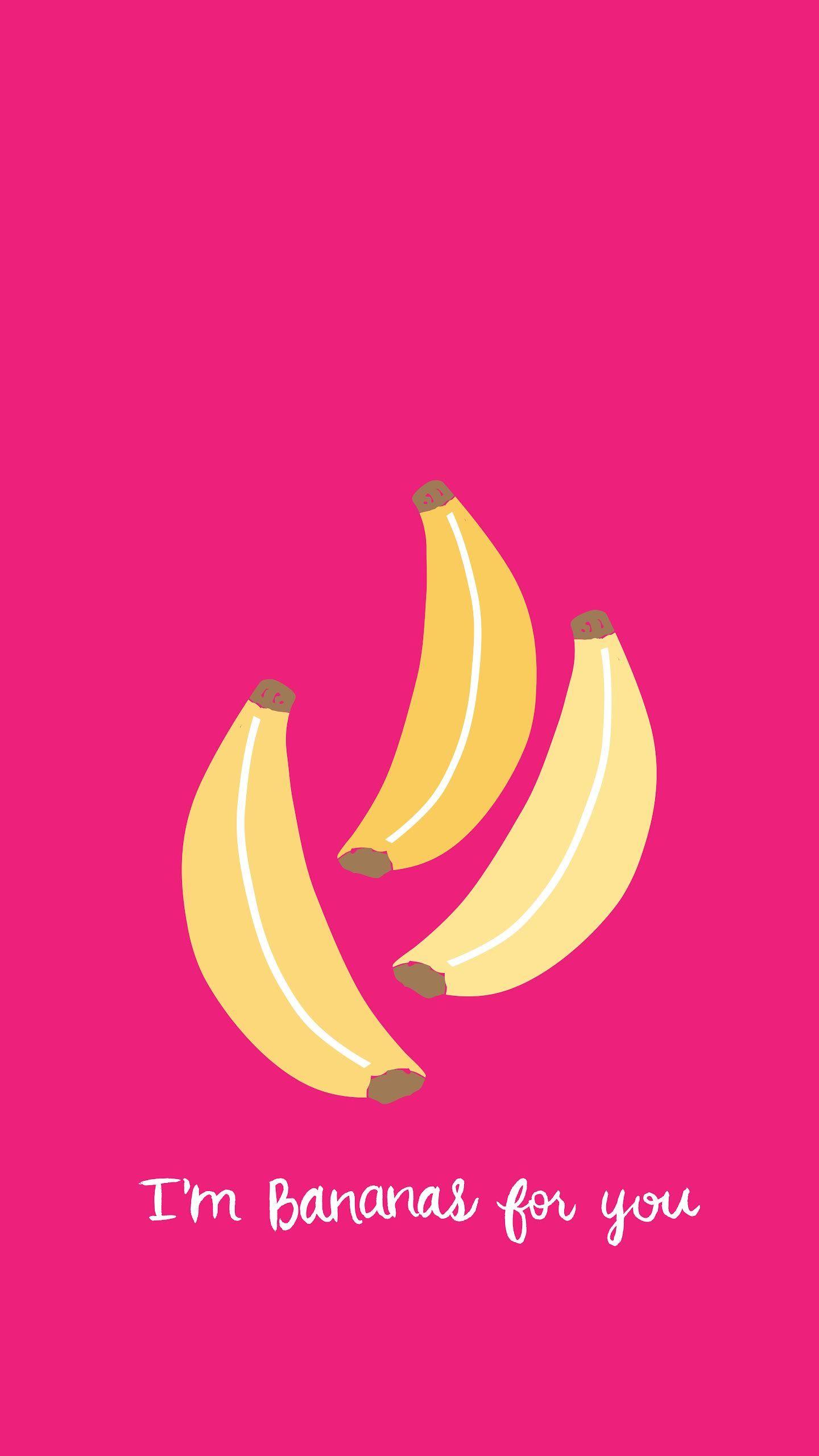 Wallpaper iphone banana - Banana Love Pink Iphone Wallpaper Panpins