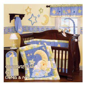Moon Stars Baby Theme For Little Boy Star Themed Nursery Nursery Baby Crib Bedding Sets
