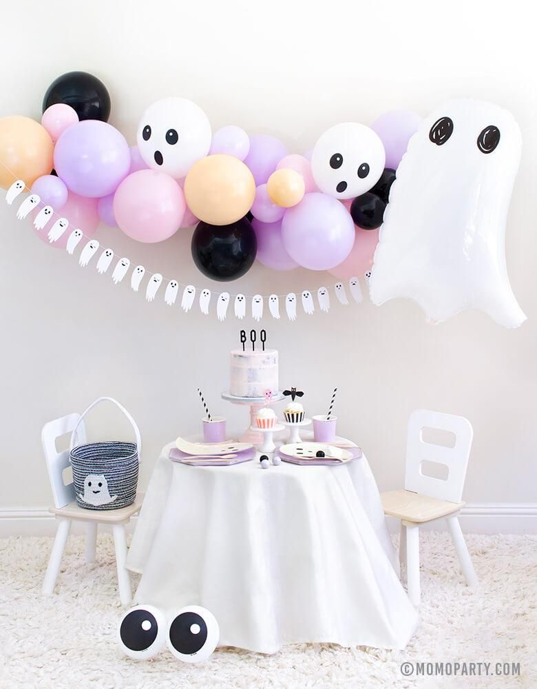 Ghouls just wanna have fun! Invite the most adorable ghost friend to your Halloween celebration! Size: 27 inches Balloon arrives uninflated
