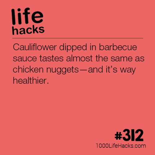 Cauliflower Dipped in BBQ Sauce  1000 Life Hacks is part of 1000 life hacks - Improve your life one hack at a time  1000 Life Hacks, DIYs, tips, tricks and More  Start living life to the fullest!