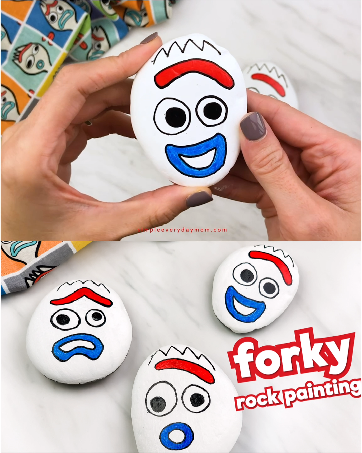 Photo of Forky Painted Rocks For Kids