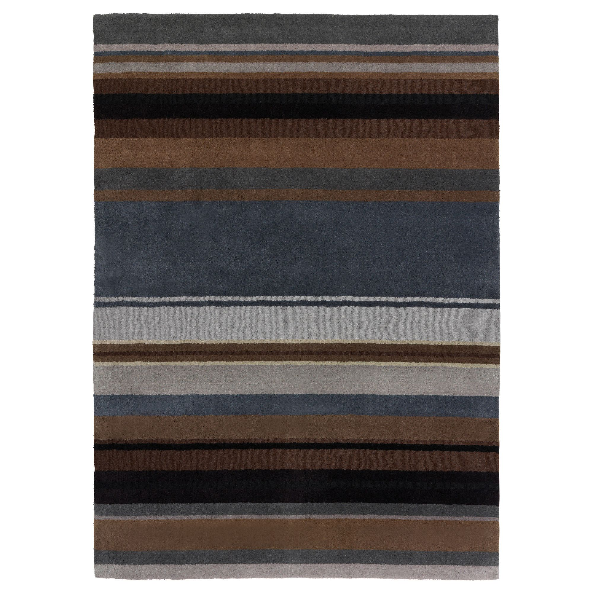 IKEA - STOCKHOLM, Tappeto, pelo corto, 170x240 cm, , Ogni tappeto è unico poiché è fatto a mano da artigiani esperti ed è prodotto in India, in centri di tessitura organizzati, dove le condizioni di lavoro sono buone e i salari equi.Poiché è in pura lana vergine, il tappeto respinge naturalmente lo sporco ed è molto resistente.Il pelo fitto e spesso attutisce i suoni e offre una superficie morbida su cui camminare.