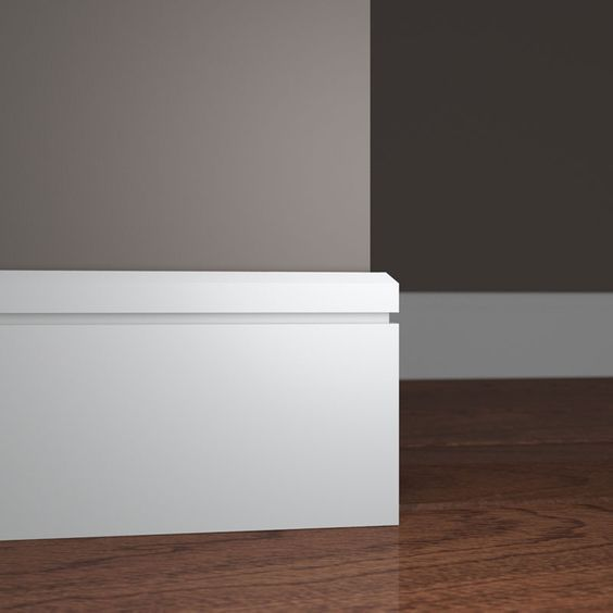 Mcb512 Base Moulding I Like The Dato Around The Top Edge Baseboard Styles Modern Baseboards Moldings And Trim