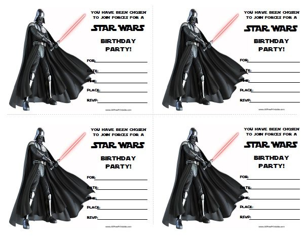 Star Wars Birthday Invitations Printable Free Pinteres