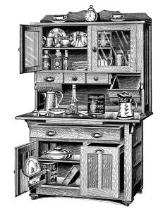 cupboard clipart black and white. vintage kitchen clipart, old catalogue page, antique cabinet image, black and white cupboard clipart r