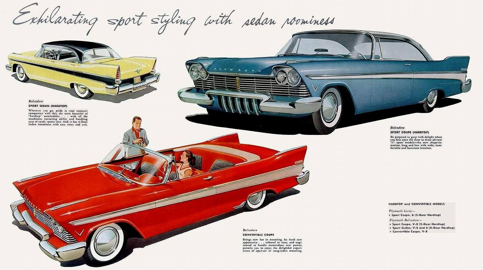 57 Plymouths Automobile Advertising Plymouth Car Advertising