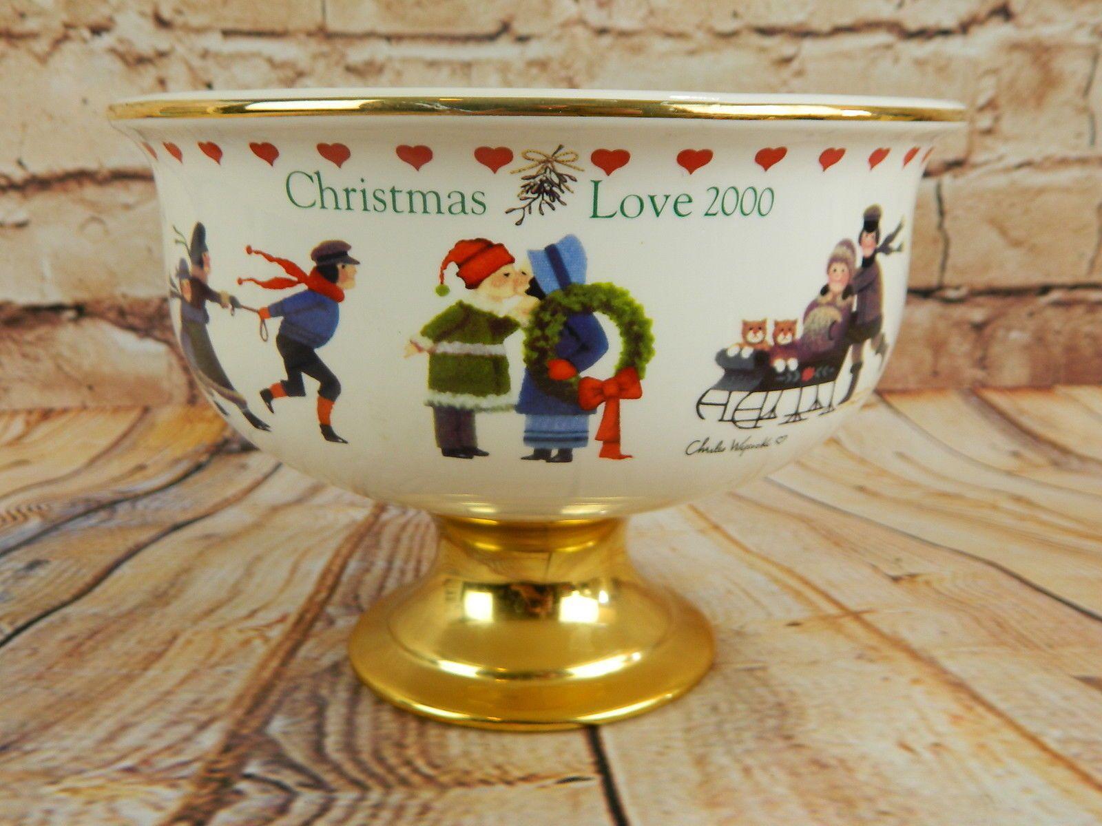 "Love 2000"" Christmas bowl produced for Teleflora by Charles Wysocki"