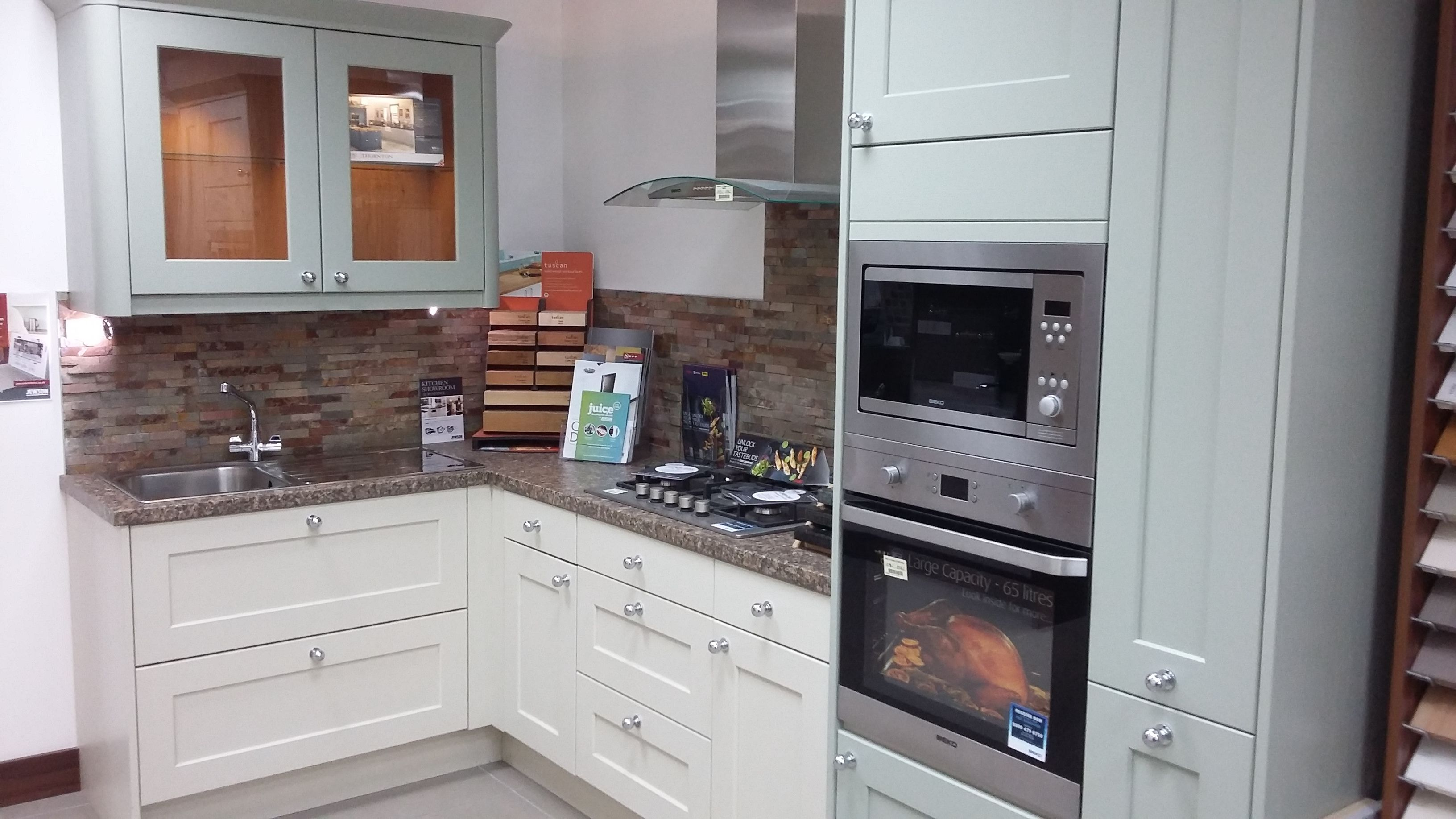 Kitchen Display Studio Thornton Painted To Order Oak Kitchen On Display In Our