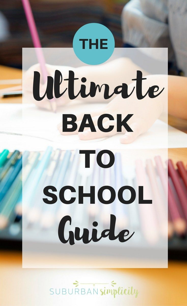 This Ultimate Back To School Guide gives you EVERYTHING you need in one place! Organization, tips + tricks, recipes and more for your best school year ever!