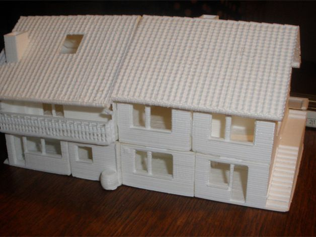 this thing was a christmas present for my parents my childhood home in 3d it was hard work to come from the sketch to the printed miniature version of the