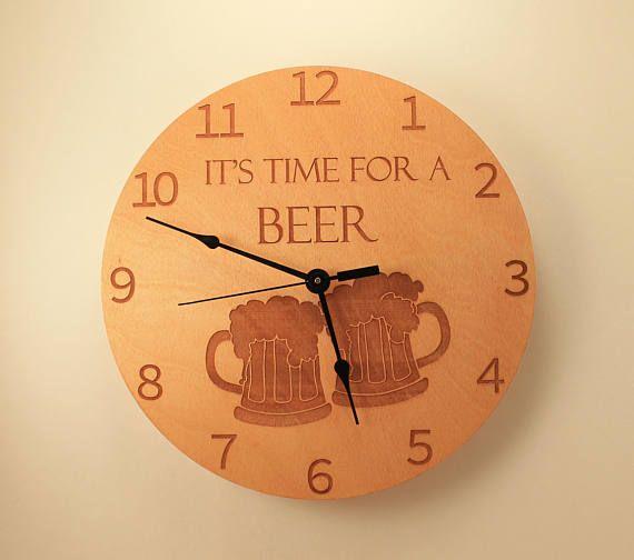 10 Handmade Wall Clock Beer Clock