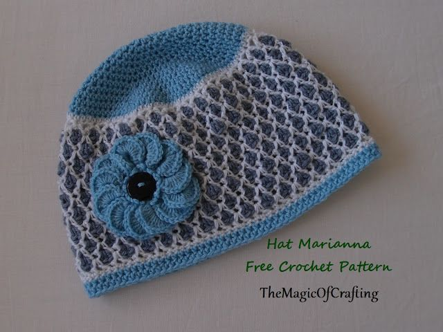 Free crochet patterns and DIY, crochet charts: Hat Marianna ...