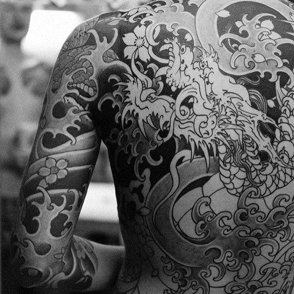 3f129cb39 50 Japanese Back Tattoo Designs For Men - Traditional Ink Ideas ...
